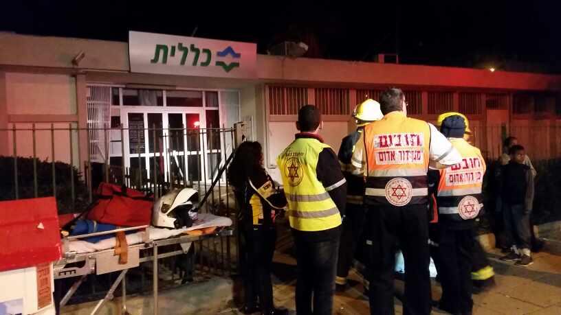 נתניה: סניף קופת חולים כללית בנורדאו עלה באש
