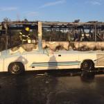 אוטובוס עלה באש במהלך נסיעתו