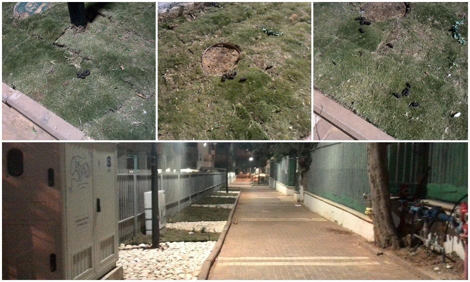 נתניה: ונדליזם וצואת כלבים בסמטה ששופצה לפני שבוע