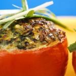 עגבניות אפויות במילוי גבינות ופטריות