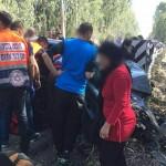 שלוש ילדות נפצעו קשה בתאונת דרכים