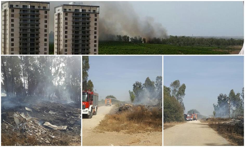 גל החום: שריפה איימה על מחסני תחמושת ותושבים
