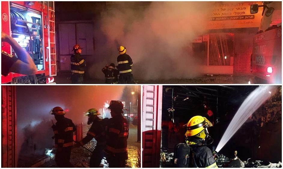 נתניה: חנות נשרפה כליל – נבדק חשד להצתה