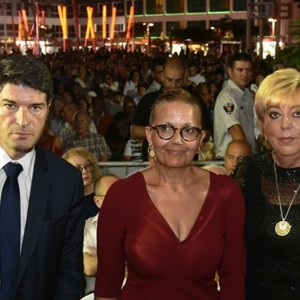 """ראש העירייה, מרים פיירברג, עו""""ד מרטין וקנין ושגריר צרפת בישראל. צילום רן אליהו"""