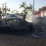 נתניה: ארבעה רכבים עלו באש בדרום העיר