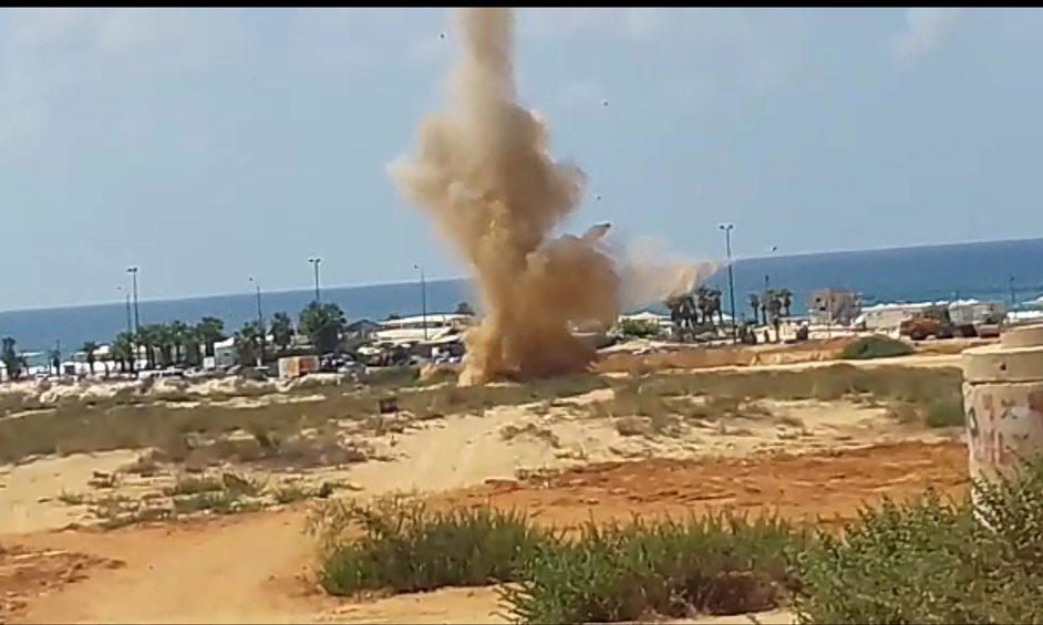 פגז ארטילרי נמצא בחוף פולג
