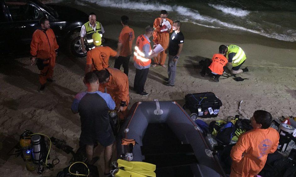 חוף סירונית: חיפושים אחר אישה שנכנסה לים ונעלמה