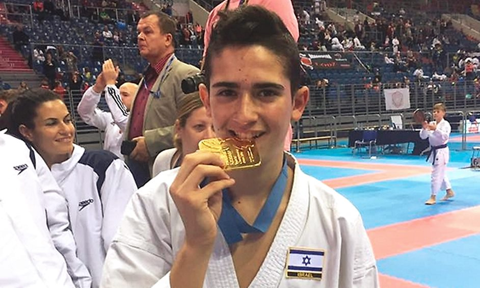 קראטה: מדליית זהב לגלעד רוקח באליפות העולם לנוער