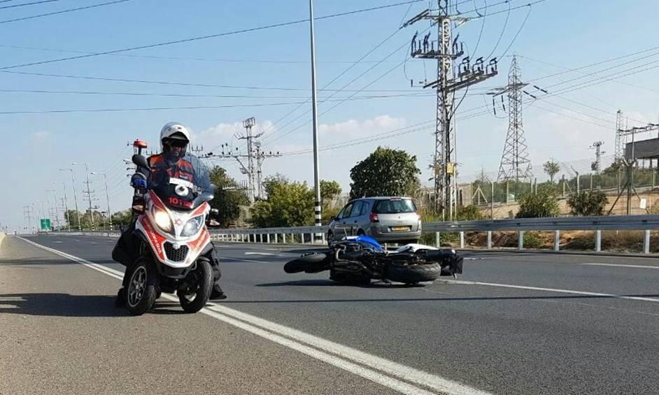 רוכב אופנוע נפצע קשה סמוך לצומת נורדיה