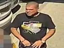 החשוד כפי שצולם בסרטון שפרסמה המשטרה