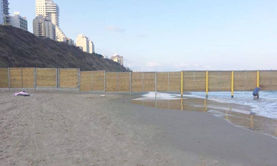 חוף צאנז חסום, צילום שרגא שומר