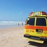 אישה טבעה בחוף סירונית-מצבה קשה