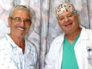 """ד""""ר גן ולן והמנותח שמעון שחם. צילום בית חולים לניאדו"""