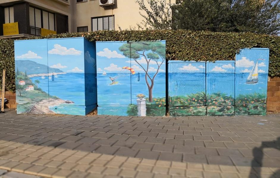 חידוש שילוט וציורים ברחבי העיר