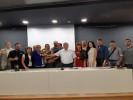 מסיבת העיתונאים בה הוכרזה נתניה כמארחת התחרות. צילום טל גרצ'ובסקי